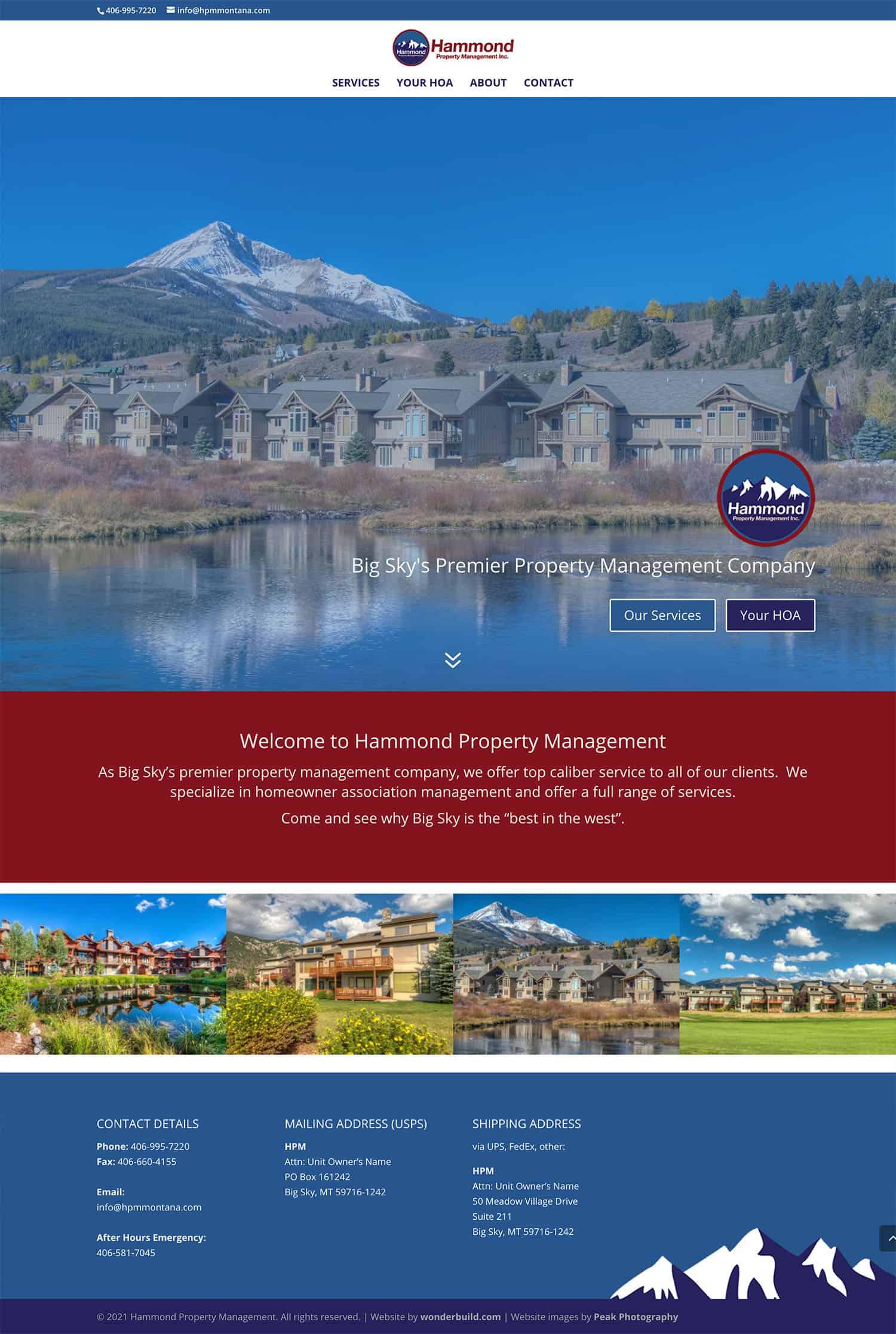 Hammond Property Management Website